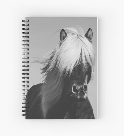 B&W Horse Portrait Spiral Notebook