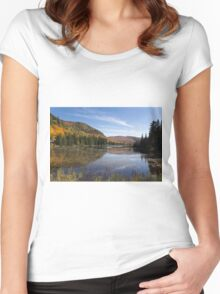 Fall Colours in Canada - Tremblant, Quebec Women's Fitted Scoop T-Shirt