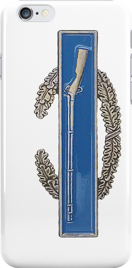 Combat Infantry Badge - CIB - iPhone Case by Buckwhite