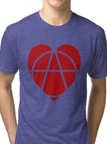 Red Anarchist Heart Tri-blend T-Shirt
