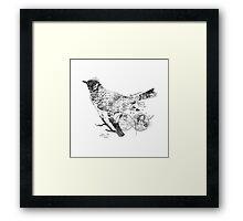 Bird Wanderlust Black and White Framed Print