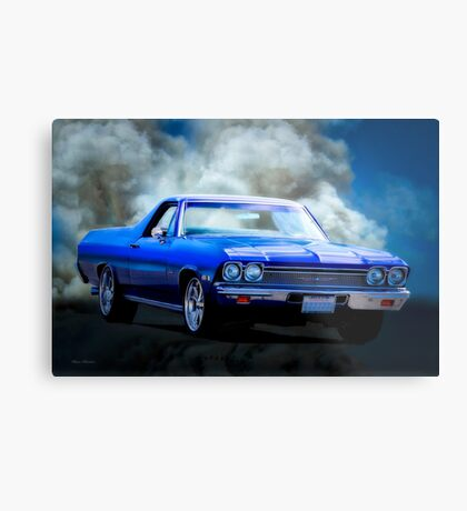 1968 Chevrolet El Camino 307 'Smok'n Hot' Metal Print
