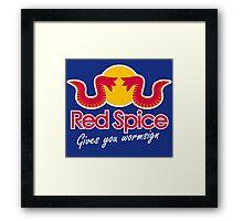 Red Spice Framed Print