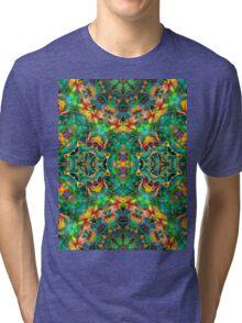 Fractal Floral Abstract G87 Tri-blend T-Shirt
