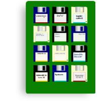 Amiga Disks Canvas Print