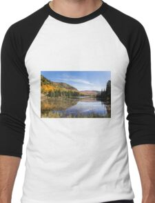 Fall colours in Canada - Tremblant, Quebec Men's Baseball ¾ T-Shirt