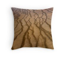 Abstract Microbial Mat Throw Pillow