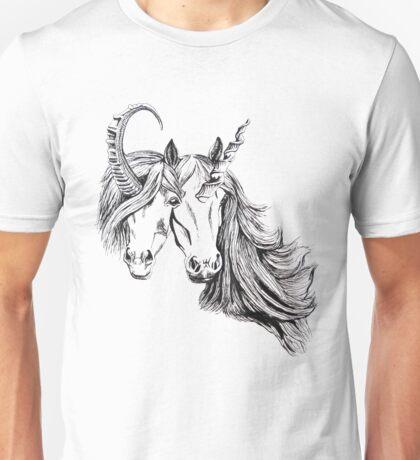 Conjoined Unicorns Unisex T-Shirt