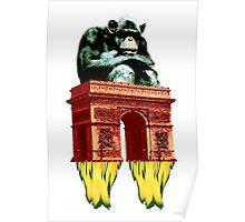 popart monkey - spaceship Poster