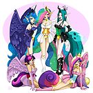My Little Pin Up- Royal Ladies by LillyKitten