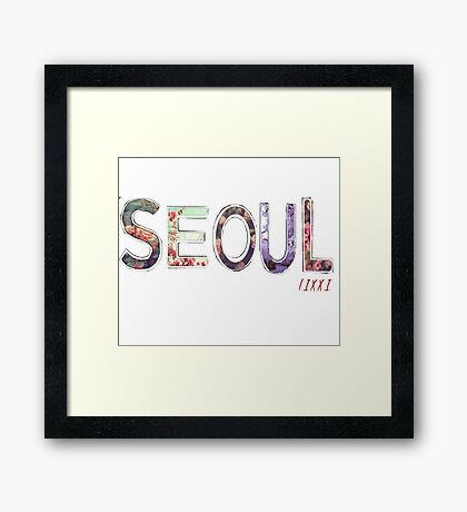 KOREAN INSPERATION  Framed Print
