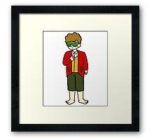 Bilbo Swaggins (white) Framed Print