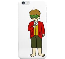 Bilbo Swaggins (white) iPhone Case/Skin
