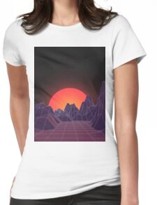 80s Vaporwave Retro Womens Fitted T-Shirt