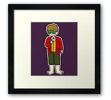Bilbo Swaggins (purple) Framed Print