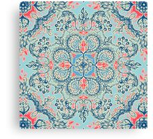 Gypsy Floral in Red & Blue Canvas Print