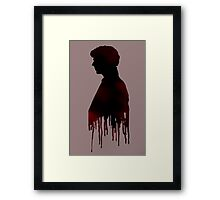 Sherlock Red Framed Print