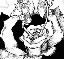 Rose and Scissors  Sticker