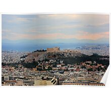 The Parthenon Overlooks The City Poster