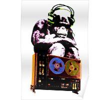 popart monkey - radio monkey Poster