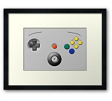 N64 Buttons Framed Print