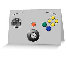 N64 Buttons Greeting Card
