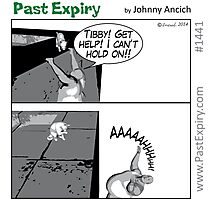 Cartoon:  Rescue Cat ! Photographic Print