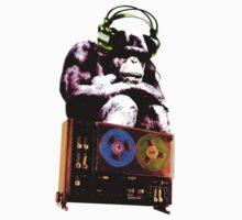 popart monkey - radio monkey Kids Tee