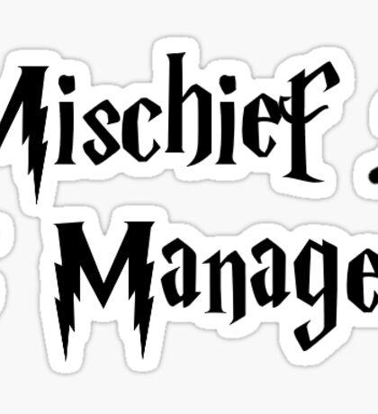 Simple Mischief Managed Sticker