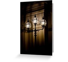 Exhibition Lights Greeting Card