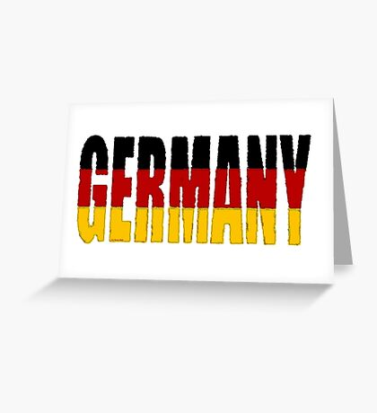 Germany Font with German Flag Greeting Card