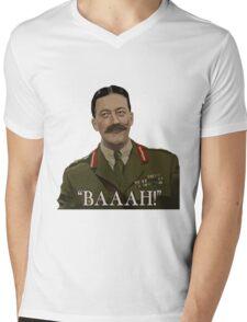 Blackadder - General Melchett Mens V-Neck T-Shirt