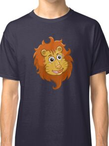 Head of smiling cartoon lion Classic T-Shirt