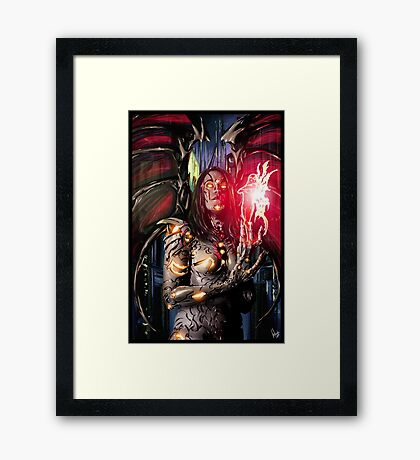 Robot Angel Painting 026 Framed Print