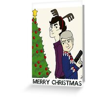 Crime Fighting Christmas (with text) Greeting Card