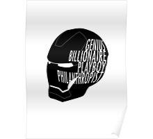Genius, Billionaire, Playboy, Philanthropist. Poster
