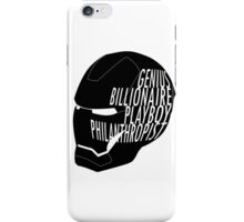 Genius, Billionaire, Playboy, Philanthropist. iPhone Case/Skin