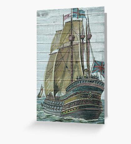 Classic Nautical Ship Design Greeting Card