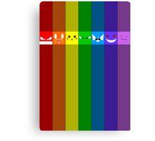 Rainbowkémon Canvas Print