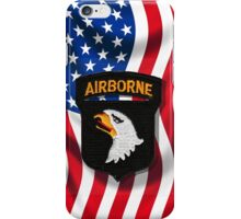 101st Airborne - American Flag - Cell Phone Case iPhone Case/Skin