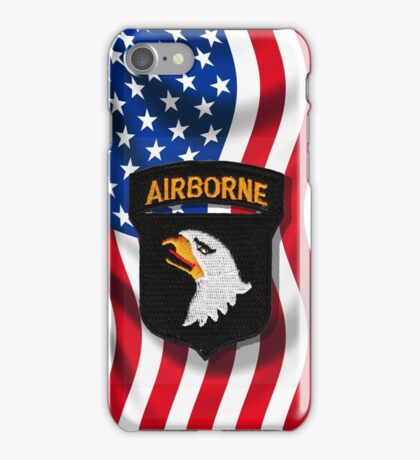 101st Airborne - American Flag iPhone Case/Skin
