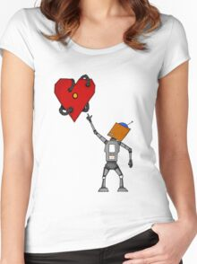 Heart Bot Women's Fitted Scoop T-Shirt