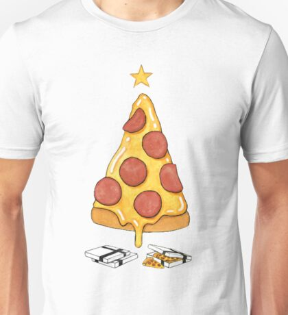 pizza christmas tree Unisex T-Shirt