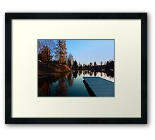Romantic evening at the lake VI | waterscape photography Framed Print