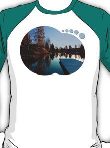 Romantic evening at the lake VI | waterscape photography T-Shirt