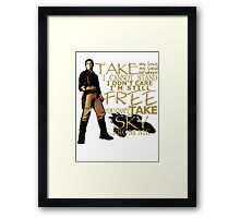 Take My Love Framed Print