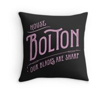 House Bolton Typography Throw Pillow