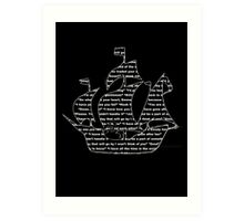 Captain Swan quotes - ship Art Print
