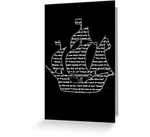 Captain Swan quotes - ship Greeting Card