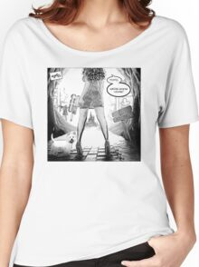 Toto, we're going home!  (B&W Variant) Women's Relaxed Fit T-Shirt